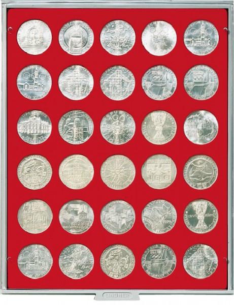 Münzbox STANDARD mit 30 runden Vertiefungen für Münzen mit ø36 mm