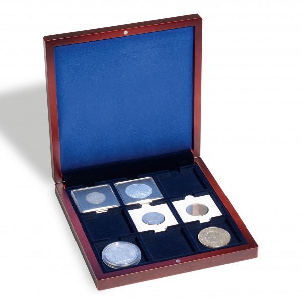 Münzetui VOLTERRA, mit 9 eckigen Feldern (50x50 mm)
