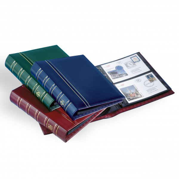 FDC Album OPTIMA, Classic-Design, inkl. 20 schwarze Hüllen,blau