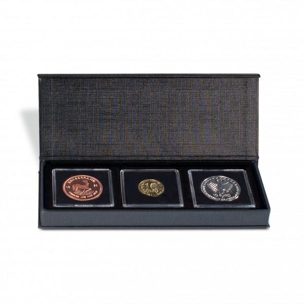 Münzetui AIRBOX mit Aufstellfunktion für 3 QUADRUM-Kapseln, schwarz
