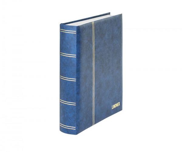Einsteckbuch ELEGANT blau, mit 60 weißen Seiten und passender Schutzkassette