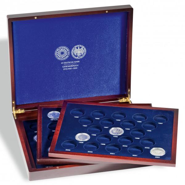 Münzkassette VOLTERRA TRIO deLuxe, für 10-DM-Gedenkmünzen