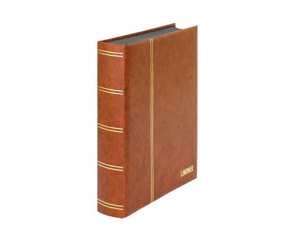 Einsteckbuch ELEGANT hellbraun, mit 60 schwarzen Seiten und passender Schutzkassette