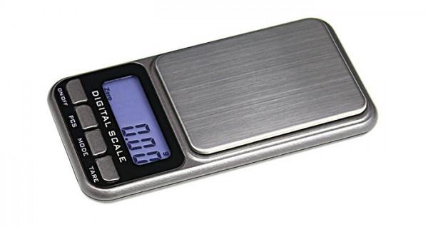 Digitale Taschen-Münzwaage (ohne Batterien), Präzision bis 0,01 g - max. 500 g