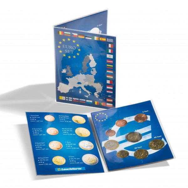 Münzkarte für 1 Euro-Kursmünzensatz