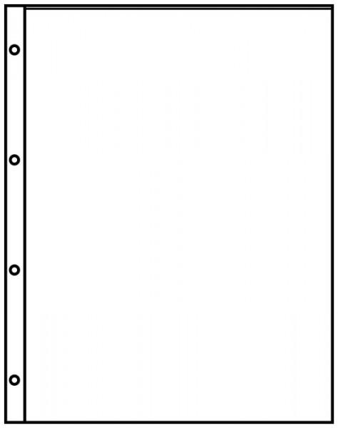 Einsteckblätter A4 schwarz mit 1 Tasche (220 x 297 mm), 10er-Packung