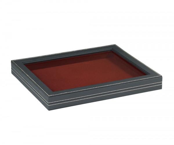 Sammelkassette NERA M mit Sichtfenster mit dunkelroter Einlage