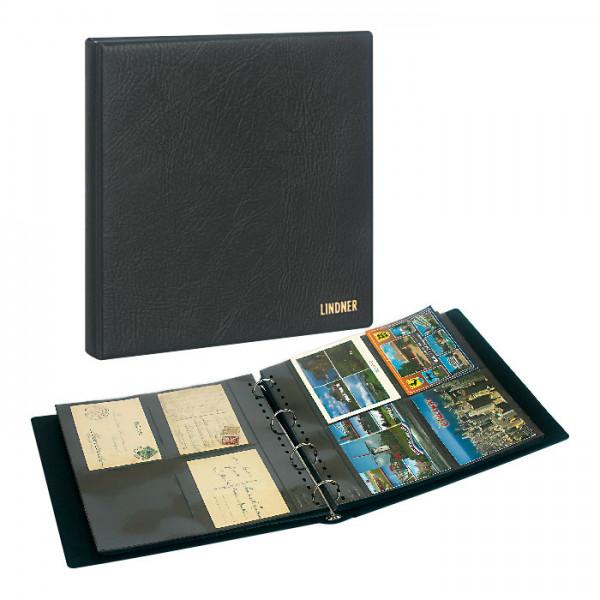 Set: Postkartenalbum SRS mit 20 Klarsichthüllen für Postkarten und Schutzkassette
