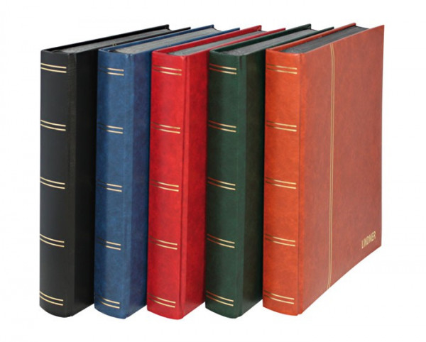 Einsteckbuch ELEGANT, blau, wattiert, 60 schwarze Seiten, durchgehende Klarsichtfolien-Streifen, 230 x 305 mm