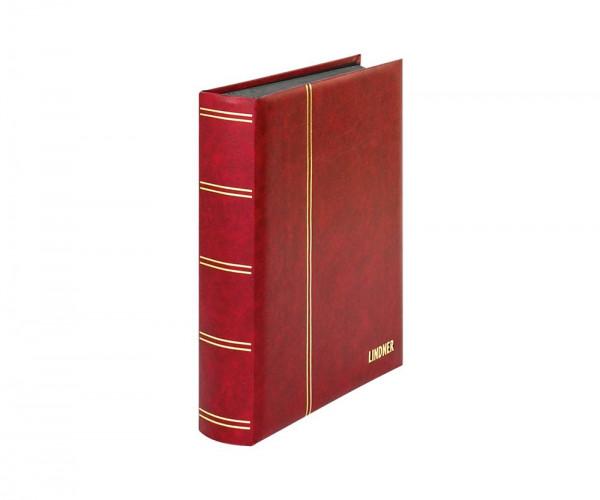 Einsteckbuch ELEGANT rot, mit 60 schwarzen Seiten und passender Schutzkassette