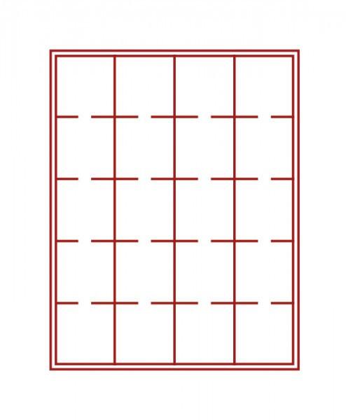 Münzbox-Rahmen CHASSIS Mattschwarz inkl. Münzbox-Grau / rote Einlage für OCTOS/Rähmchen