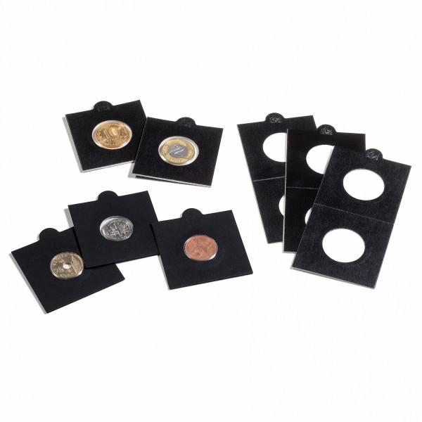 Münzrähmchen MATRIX, schwarz, selbstklebend, 25er-Pack