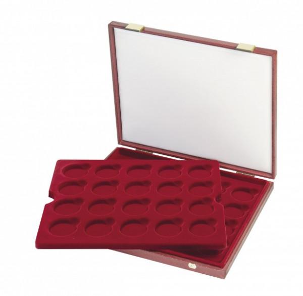 Luxus-Kassette für original verkapselte 10 Euro- oder 20 Euro-Silbermünzen Bundesrepublik Deutschland in Spiegelglanz