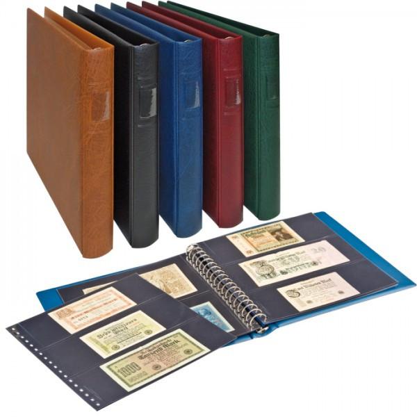 LINDNER Banknoten-Album (mit schwarzen Zwischenblättern)