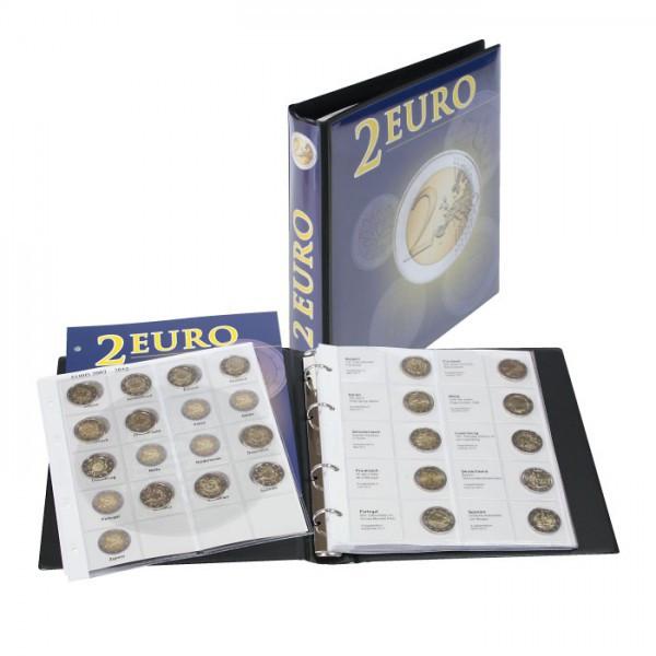 Vordruckalbum 2 Euro-Gedenkmünzen Band 1-3 (chronologisch) inkl. Schutzkassette - SONDEREDITION
