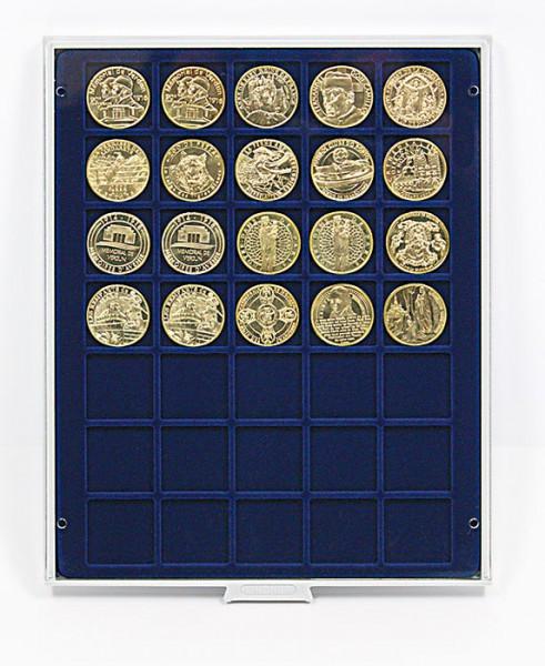 Münzbox MARINE mit 35 quadratischen Fächern für Münzen/Münzkapseln bis ø36 mm