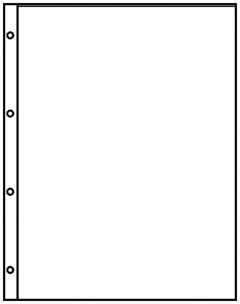 Einsteckblätter A4 glasklar mit 1 Tasche (216 x 300 mm), 10er-Packung
