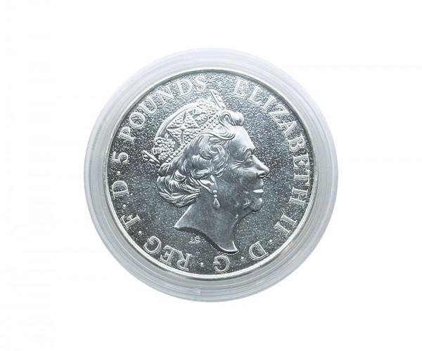 Münzkapseln Innen-Ø 39 mm, Innenhöhe 6 mm, z.B. für 2 Oz Großbritannien Queen's Beasts oder Niue Turtle
