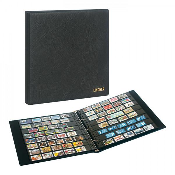 Set: Briefmarkenalbum SRS mit 20 schwarzen Einsteckblättern und Schutzkassette