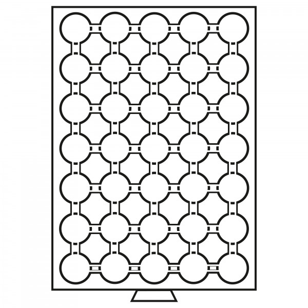 Münzbox 35 Fächer für CAPS 26, grau