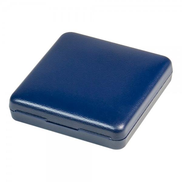 Münz-Etui mit blauer Velourseinlage für Münzen/Münzkapseln bis Außen-ø 46 mm