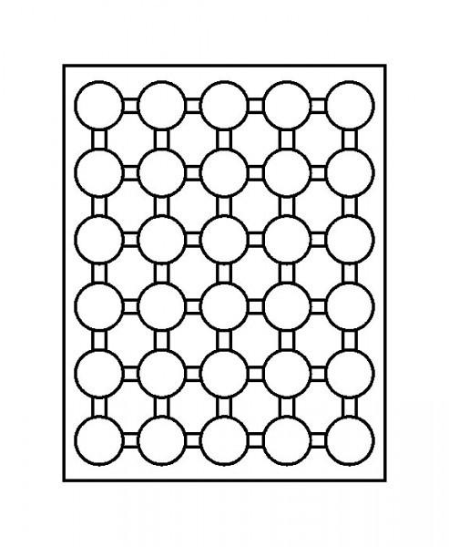 Münzbox-Rahmen CHASSIS Mattschwarz inkl. Münzbox-Grau / blaue Einlage für 10 Euro-Münzen PP