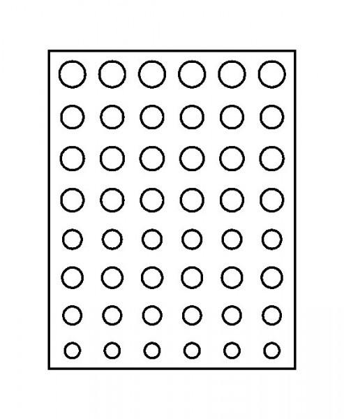Münzbox-Rahmen CHASSIS Mattschwarz inkl. Münzbox-Grau / blaue Einlage für 6 Euro-Kursmünzensätze