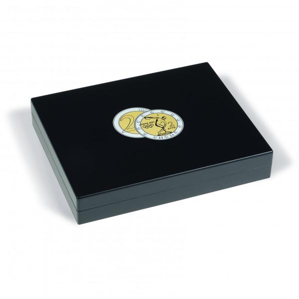 Münzkassette 3-lagig für 105 2-Euro-Münzen in Kapseln, schwarz