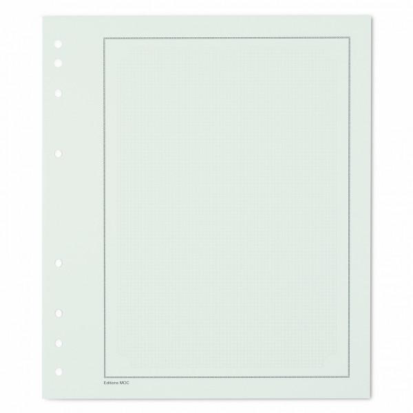 MOC Blankoblätter mit zartgrauem Gitternetz-Druck und schwarzer Randlinie