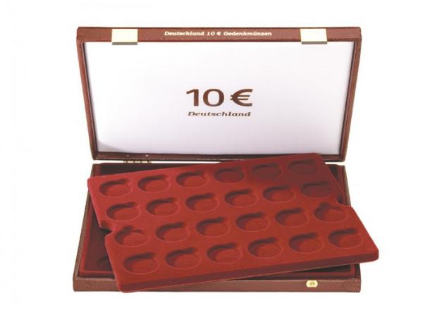 Luxus-Kassette für 48 Stück 10 Euro-Gedenkmünzen Deutschland (32,5 mm )