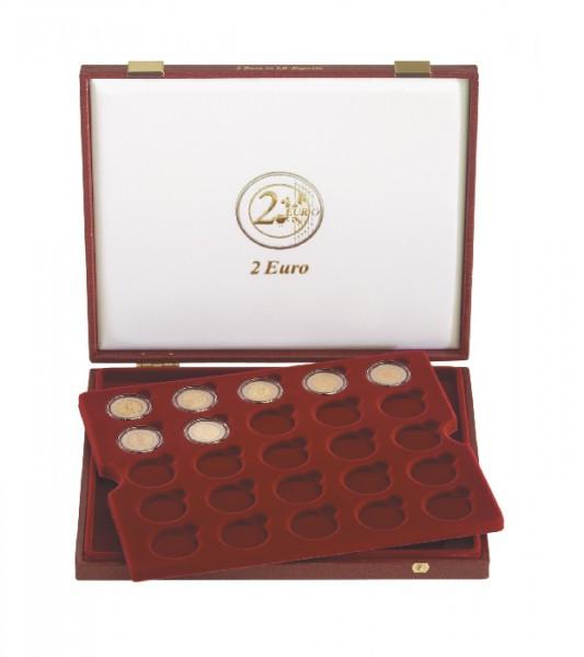 Luxus-Kassette für 50 Stück 2 Euro-Gedenkmünzen ( ø inn. 26 mm)