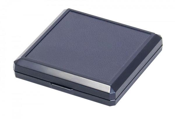 Münz-Etui mit Patenteinlage zum Eindrücken für Münzen bis ø 50 mm, blau