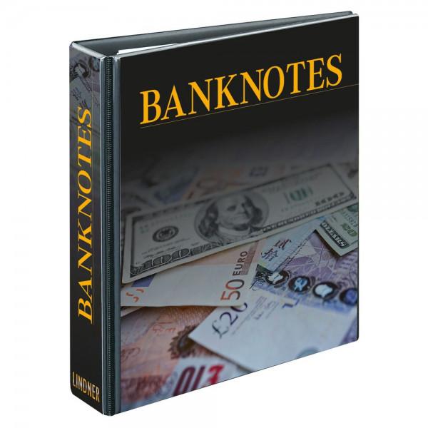 Banknotenalbum PUBLICA M mit 20 beidseitig bestückbaren Folienblättern in zwei Ausführungen - mit Schutzkassette