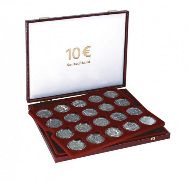 Luxus-Kassette für 40 verkapselte 10 Euro-Gedenkmünzen