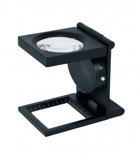 Fadenzähler aus Metall mit LED-Beleuchtung, Vergrößerung 6x