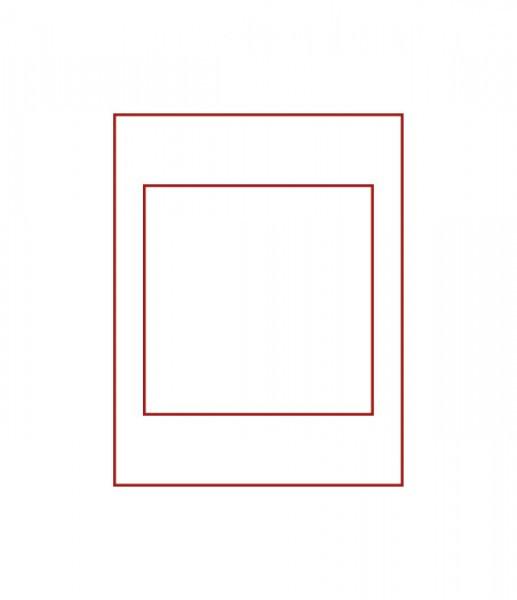 Münzbox RAUCHGLAS mit einem quadratischen Fach für ein original eingeschweißtes 10 DM-Gedenkmünzen-Set PP