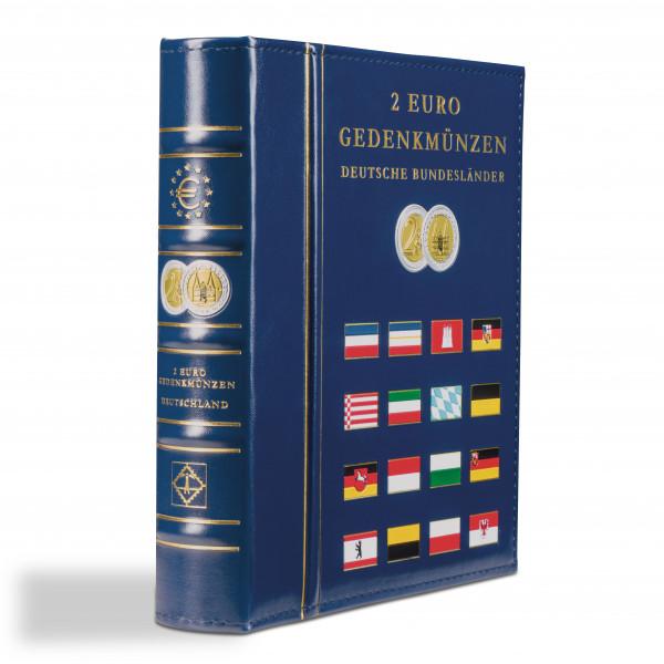 Münzalbum VISTA, für deutsche 2-Euro-Gedenkmünzen, inkl. Schutzkassette, blau