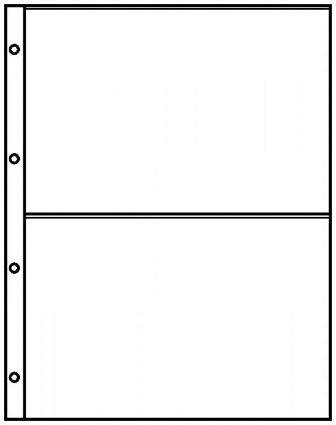 Einsteckblätter A4 glasklar mit 2 Taschen (220 x 150 mm), 10er-Packung