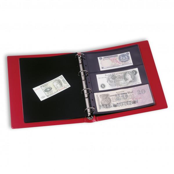 Banknotenalbum VARIO, inkl. 10 Hüllen, rot