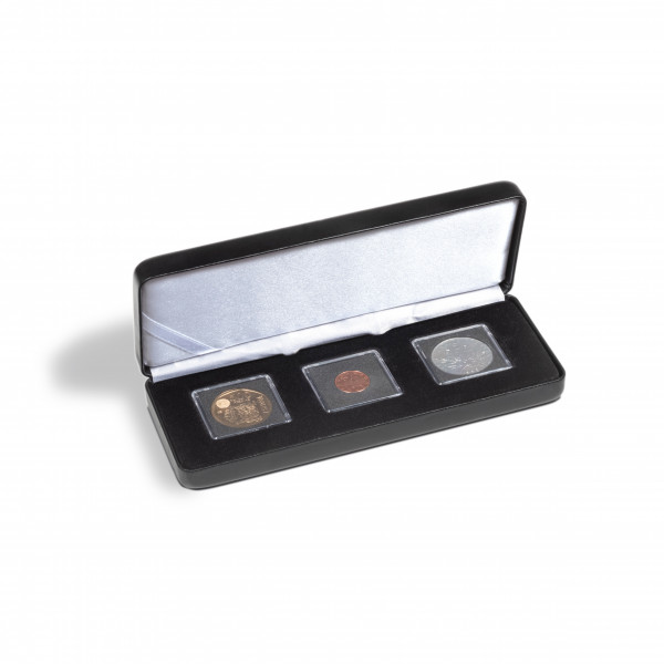 Münzetui NOBILE für 3 QUADRUM Mini-Kapseln, schwarz