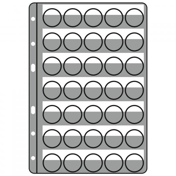 Kunststoffhüllen COMPART, für 35 Kronkorken / Champagner-Deckel (5er Pack), klarsichtig